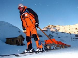 Barquette de secours - ski